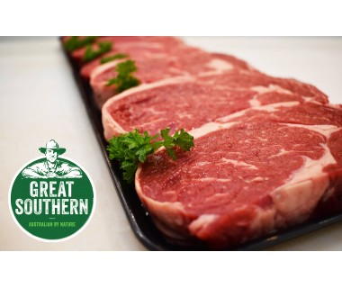GREAT SOUTHERN RIB EYE STEAK PACK 10 x 450gr